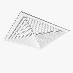 3dsmax ceiling ventilation