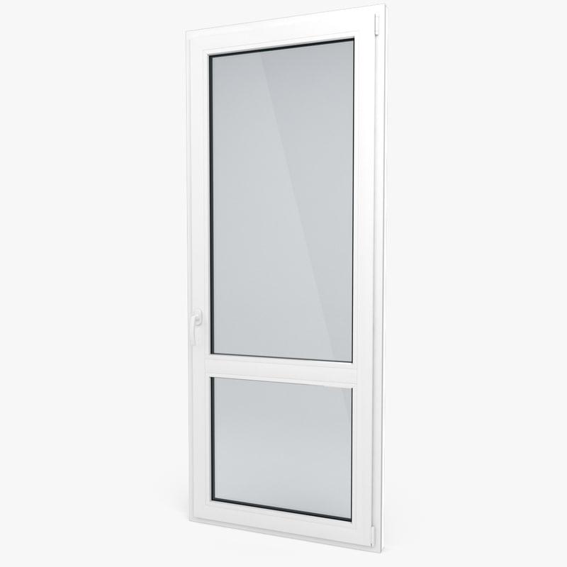 modern pvc door 3d model
