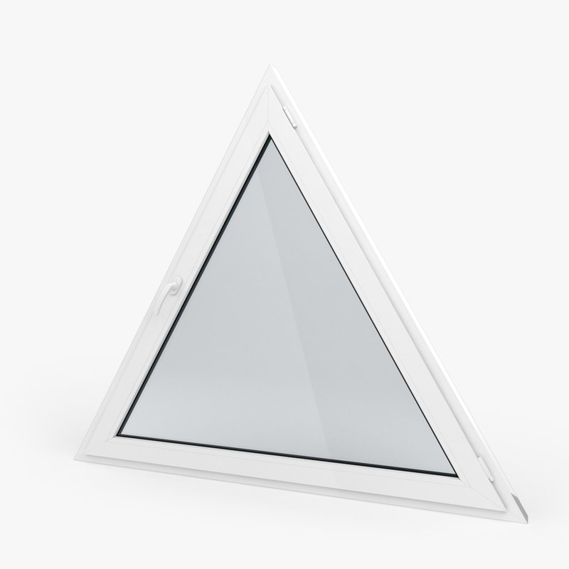 3d model modern pvc triangular window