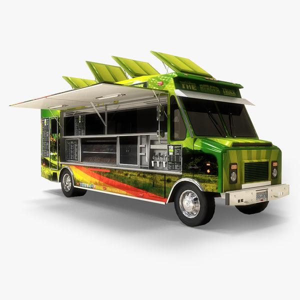 3d food truck