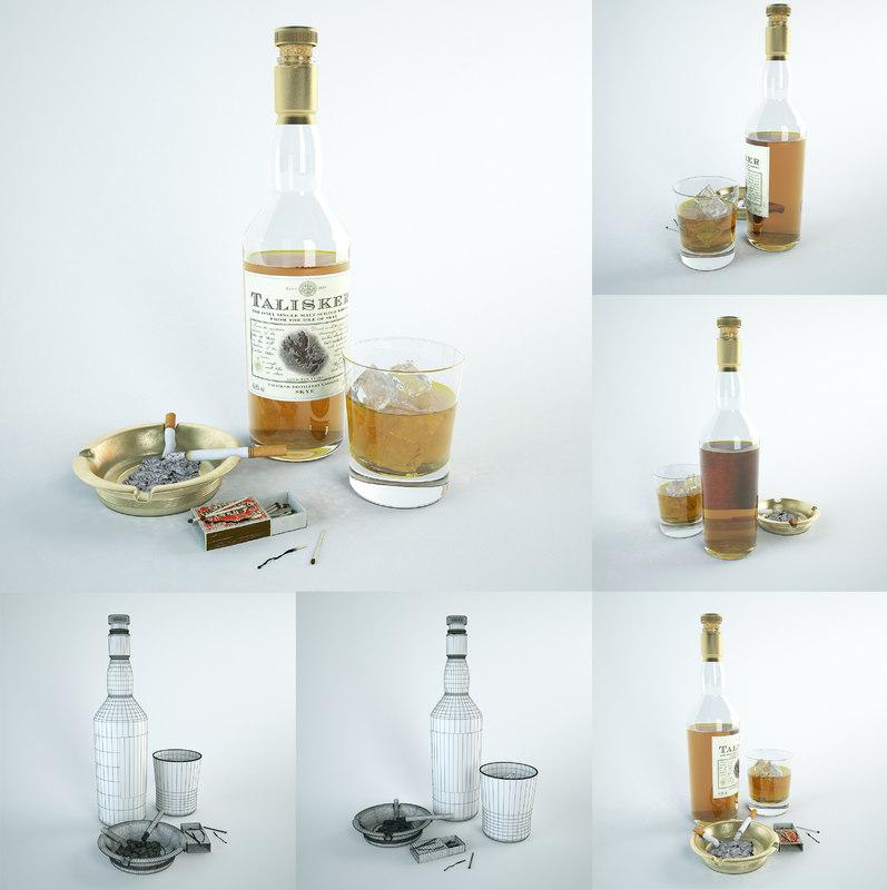 3d model decor: glamorous alcoholic