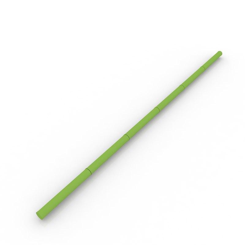 free bamboo stem 3d model