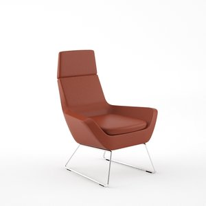 hightower happy highback lounge chair 3d max