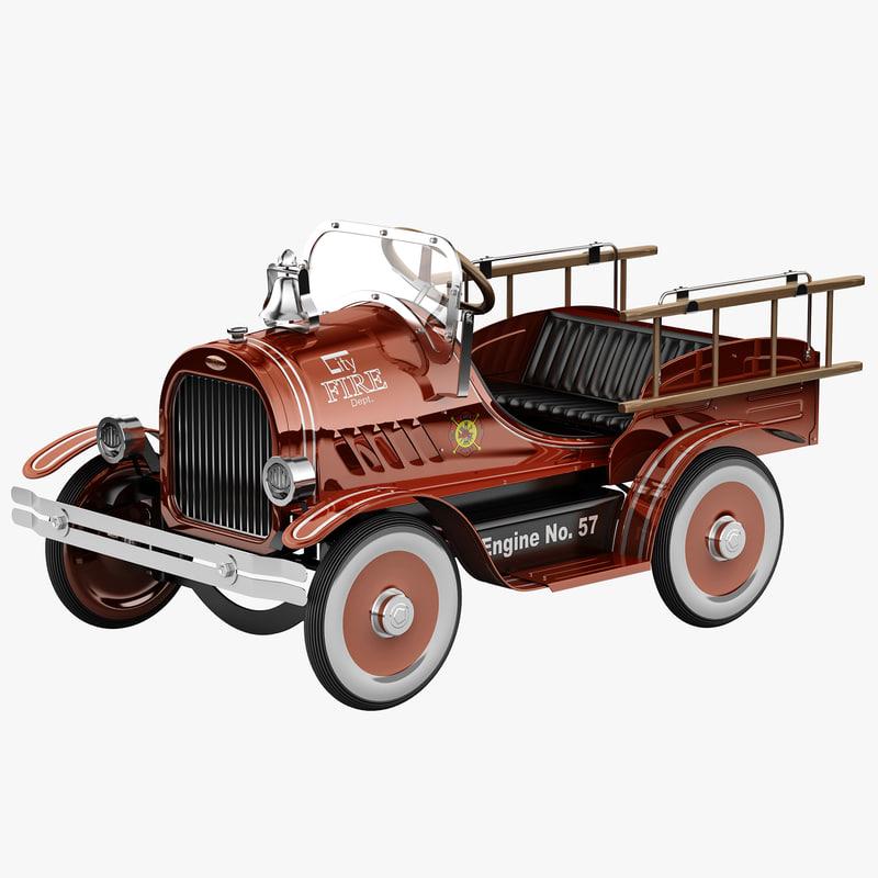 3d pedal truck model