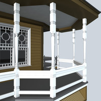 decorative porch post 3d model