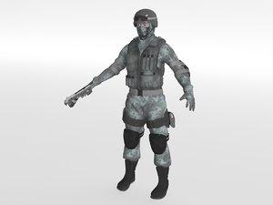 swat soldier 3d max