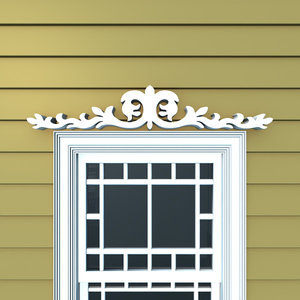 3d model decorative window header