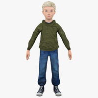boy human child 3d 3ds