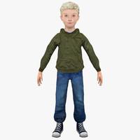 boy human child 3d 3ds