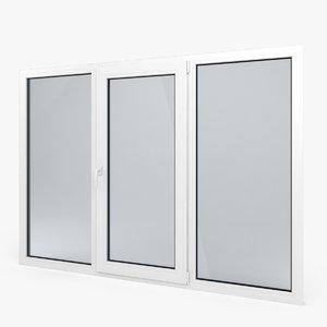 3dsmax modern pvc window