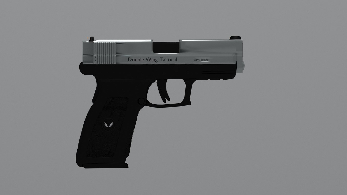 3d two-tone semi-auto pistol