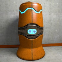 c4d urn metal scifi