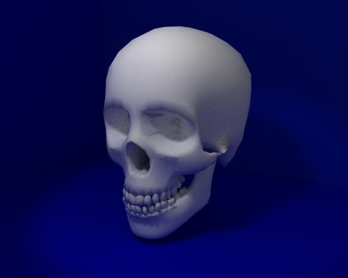 skeleton head 3d model