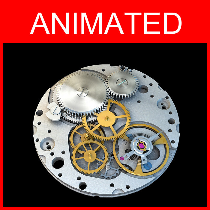 3d watch movement