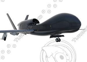 global hawk 3d max