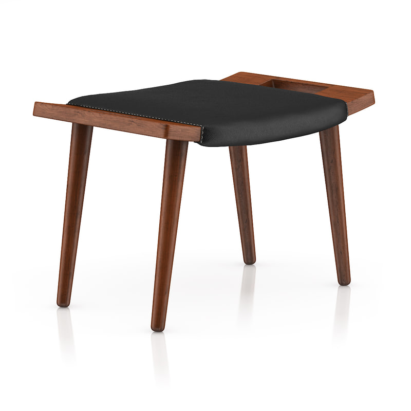 wood stool leather max