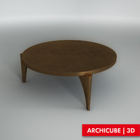3d table coffe model