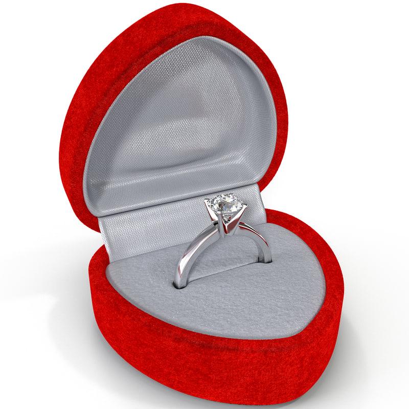 3ds max diamond ring red velvet