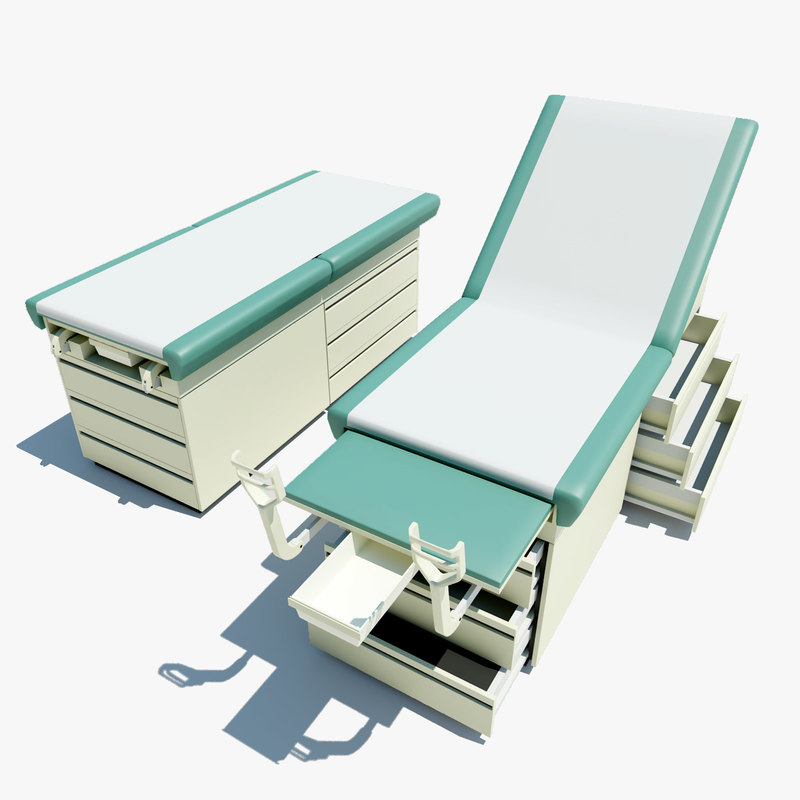 exam table 3d max