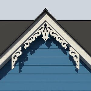 decorative gable 3d max