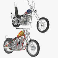 3d billy easy rider motorcycle