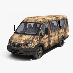 3ds max russian car qaz