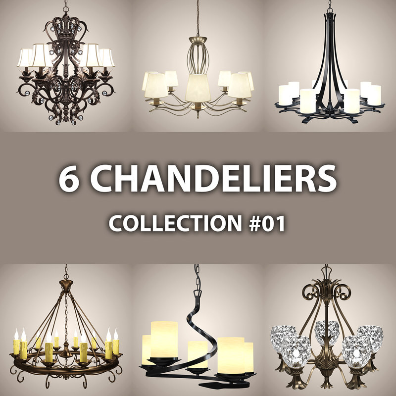 3ds max 6 chandelier lights
