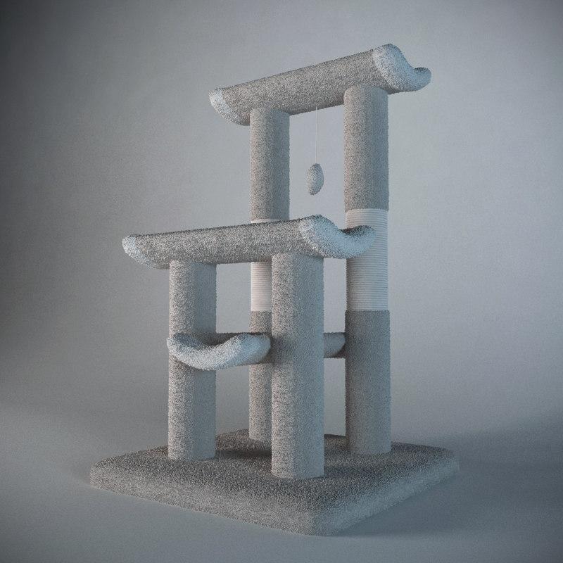 cat tree 3d model