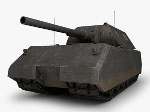 3d maus german tank model