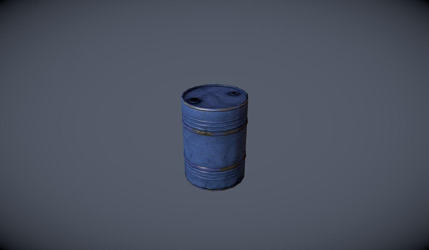 barrel 3d fbx