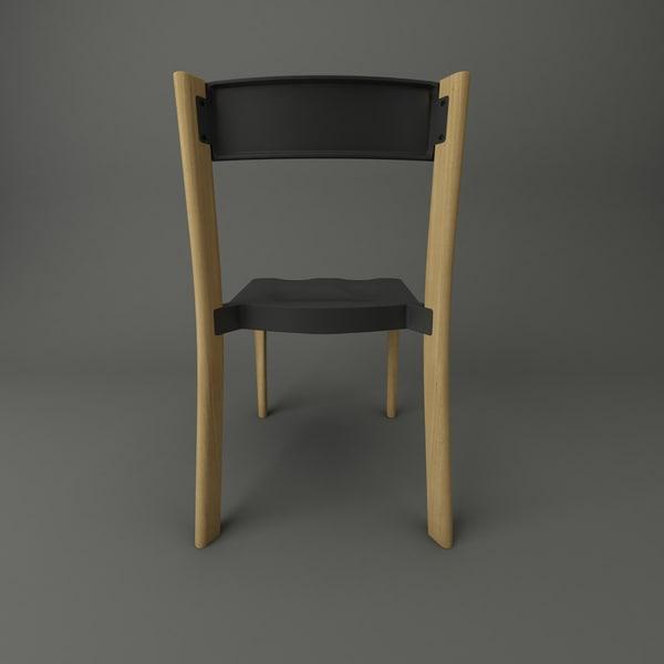 3d model emeco lancaster chair wood