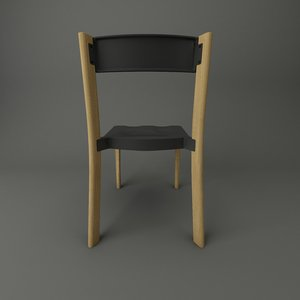 3d model emeco lancaster chair wood