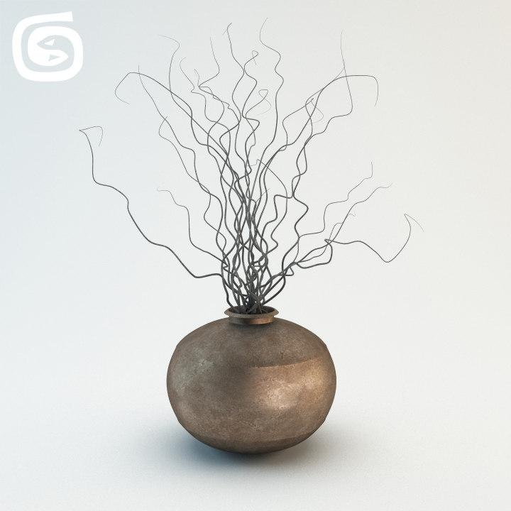 vase dry sticks max