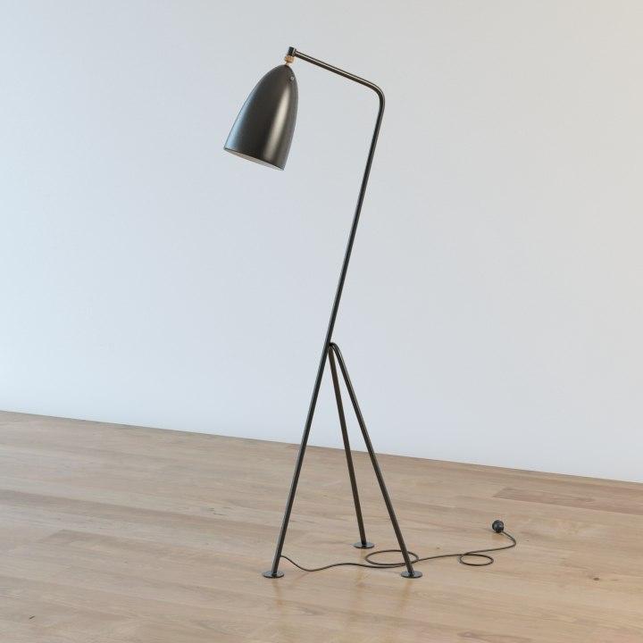 3d gubi grasshoppa floor lamp