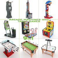 Arcade Machines And Table Games 9 in 1 Collection