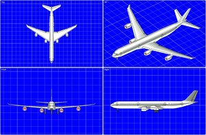 a340-600 aircraft solid assembly 3dm