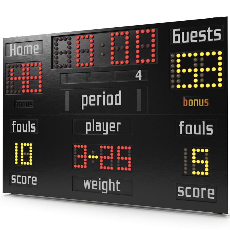 basketball scoreboard obj