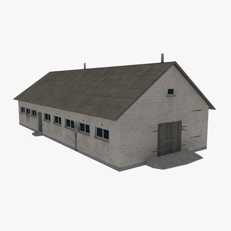 barn modeled obj