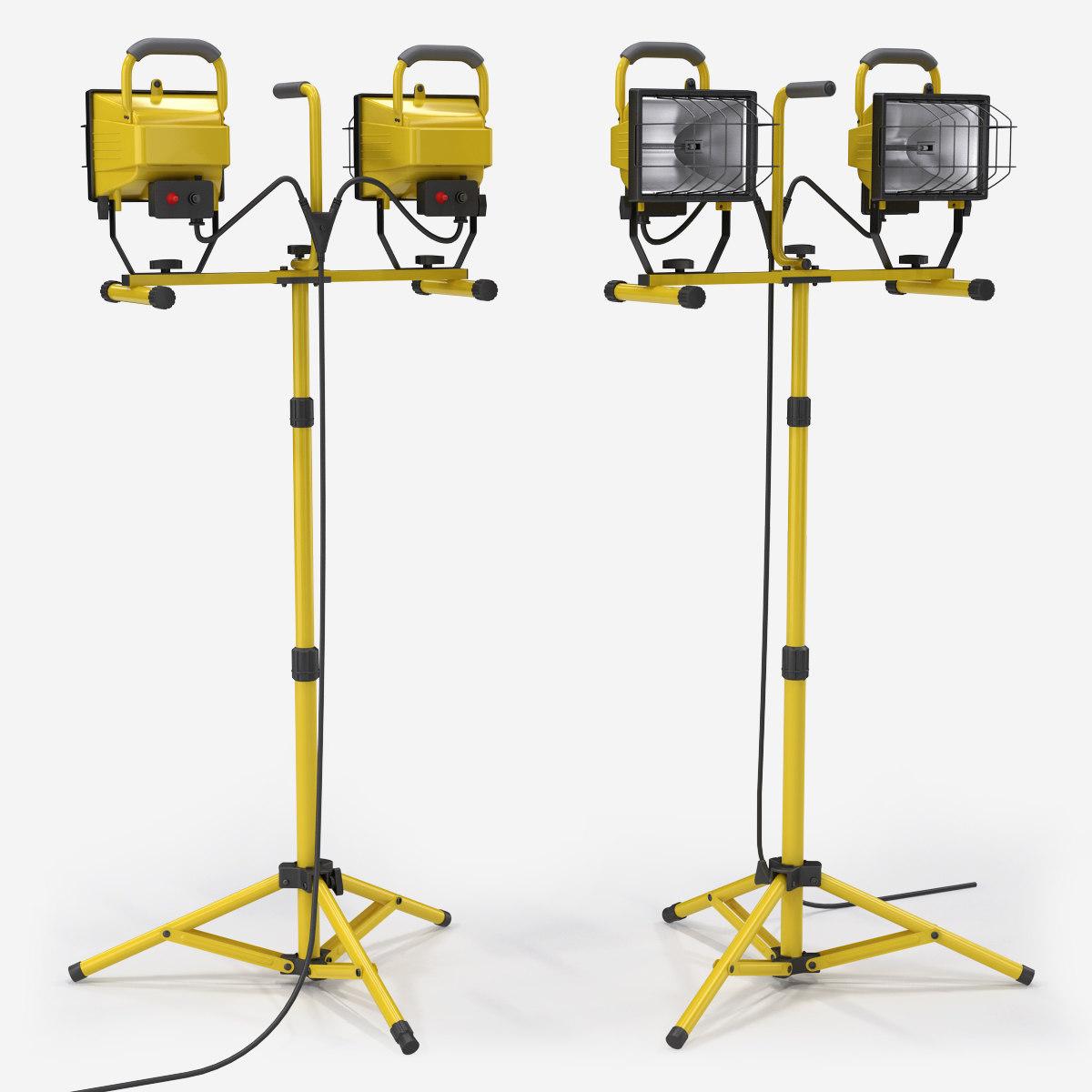 3d model halogen work lights