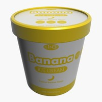 ice cream pot banana 3d max