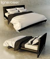 bedcloth bed ligne roset 3d obj
