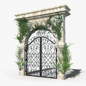 old stone entrance 3d model