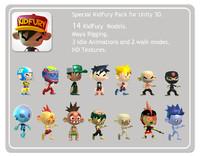unity kidfury 3d model