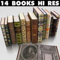antique books 2 3d max