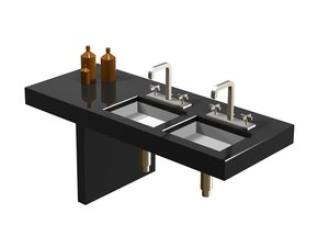 3ds max axor 3 hole basin