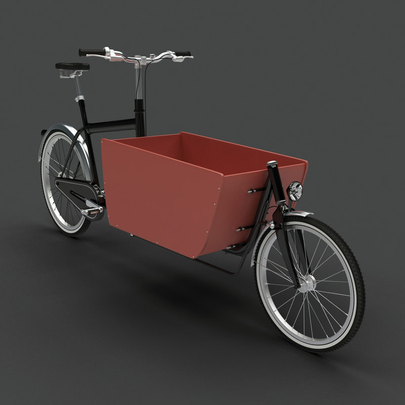 freight bicycle 3d model