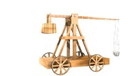 3d model trebuchet lightwave