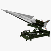 Nike Hercules Missile With Launcher