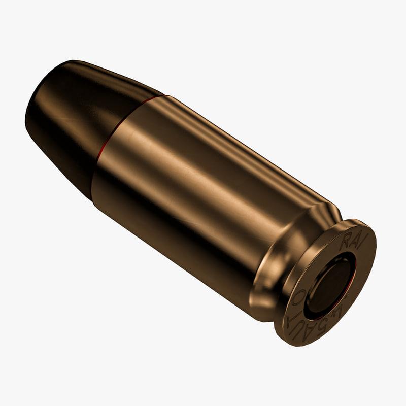 3d model 45 bullet