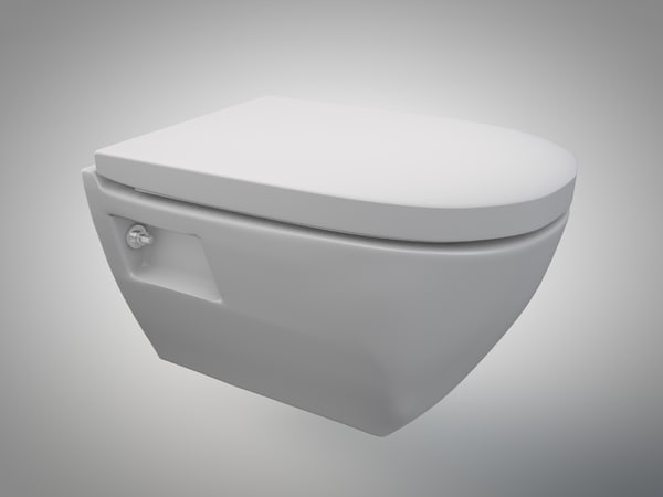 toilet closed seat 3d 3ds